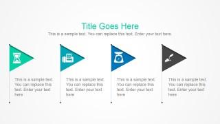 4 Simple Flags PowerPoint Slide
