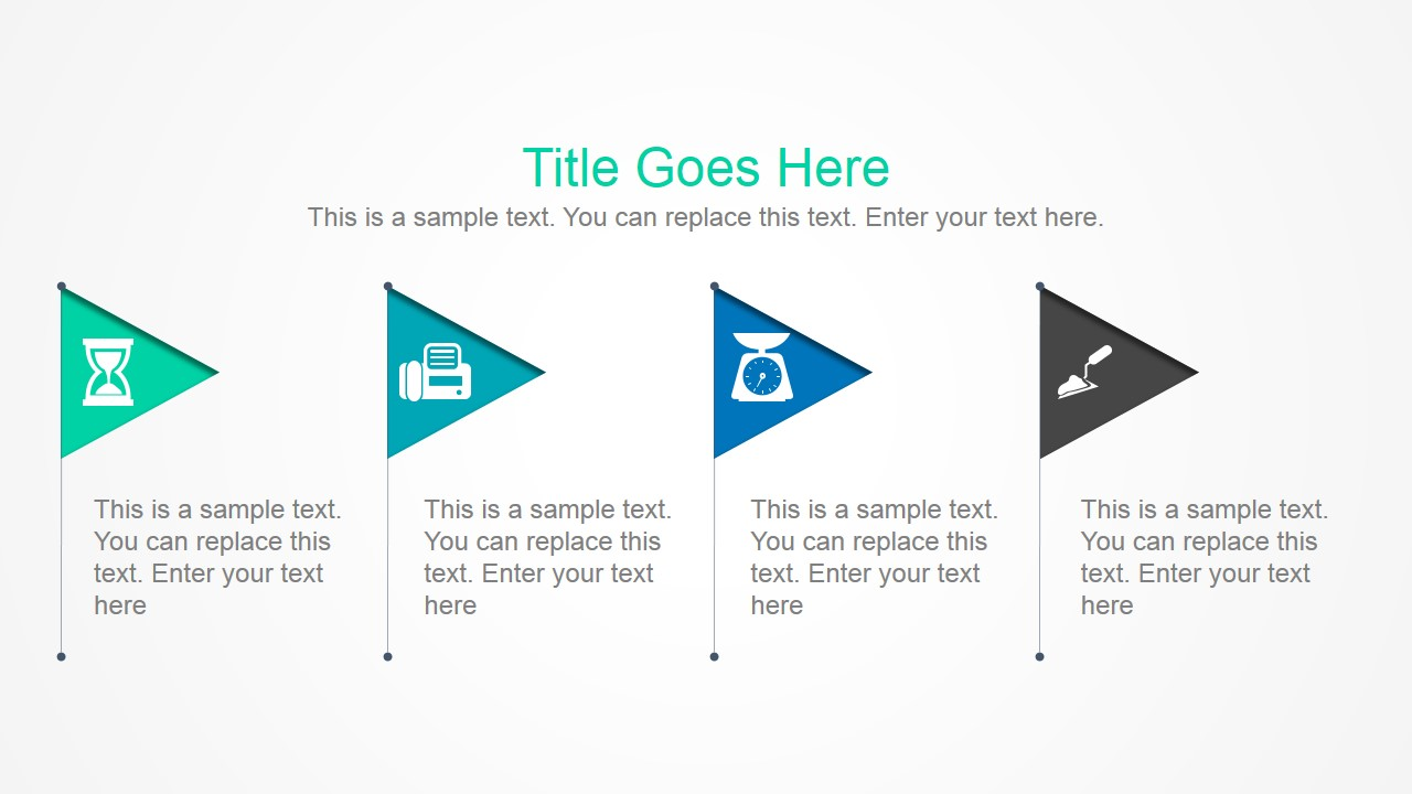 4 Simple Flags PowerPoint Slide