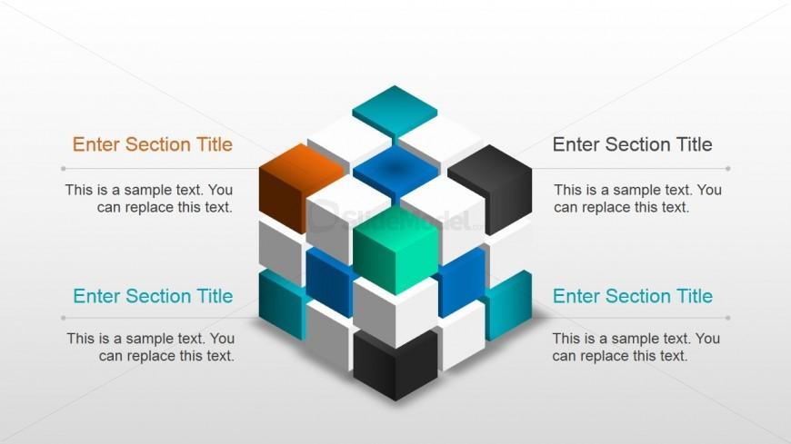 Creative 3D Magic Cube Slide Design for PowerPoint