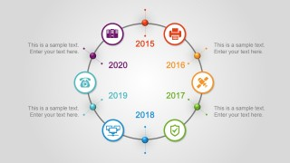 6 Step Circular Timeline Design for PowerPoint