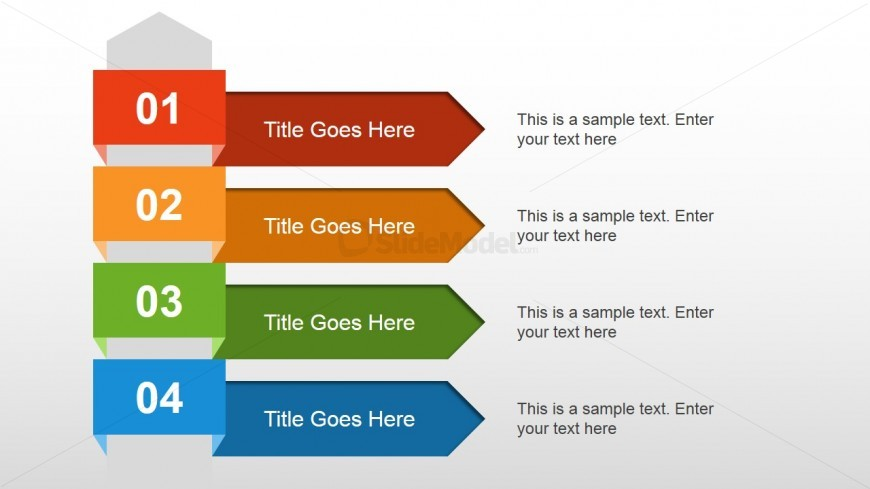 4 steps text layout for powerpoint slidemodel
