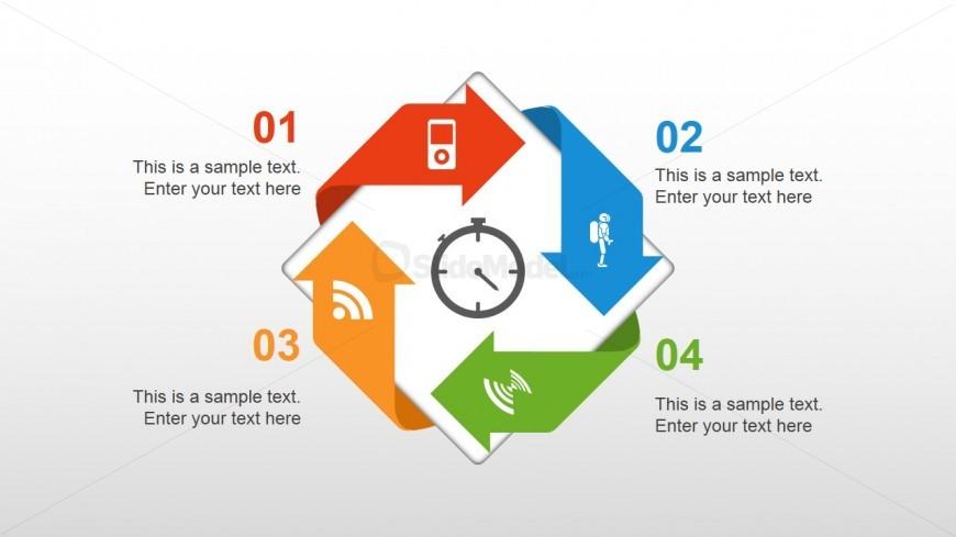 Circular 4 Steps Arrow Diagram