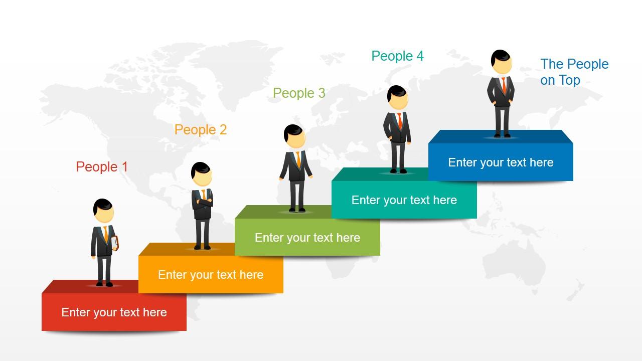 Global business era powerpoint template slidemodel powerpoint 5 steps stair diagram with steve male character toneelgroepblik Image collections