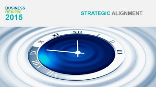 PowerPoint Clock Photo Strategy Section Cover