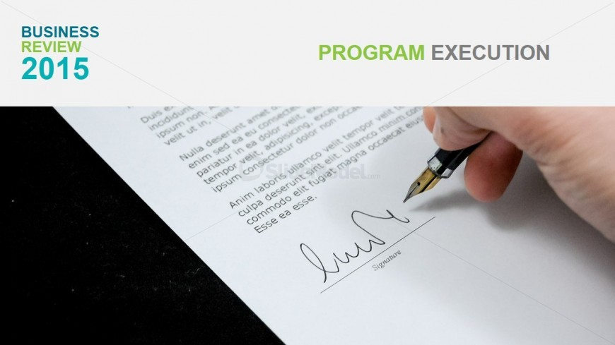 PowerPoint Background Contract Sign Photo