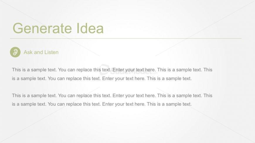 Generate Busines Idea PowerPoint Template