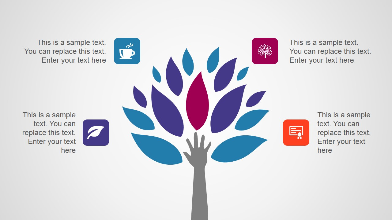 Hand & Tree Illustration for PowerPoint