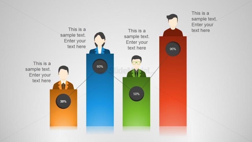 Employee Bar Chart for PowerPoint