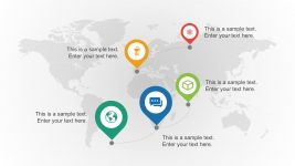 Global Report for Business with Location Markers