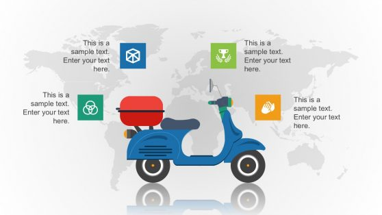 Motor Vehicle Graphic with Map Vectors and Icons