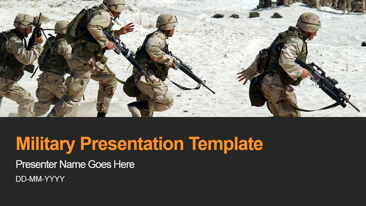 Military Presentation for PowerPoint Background