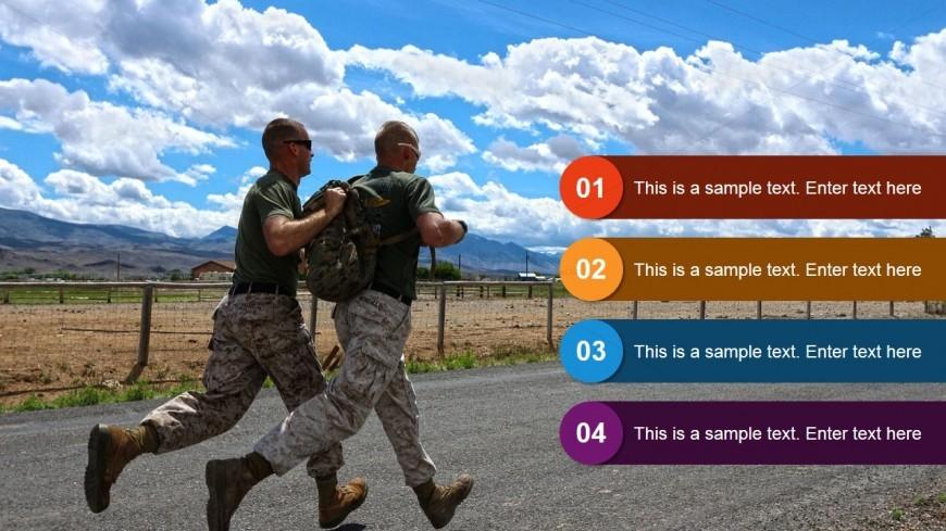 military training slide design powerpoint theme - slidemodel, Modern powerpoint
