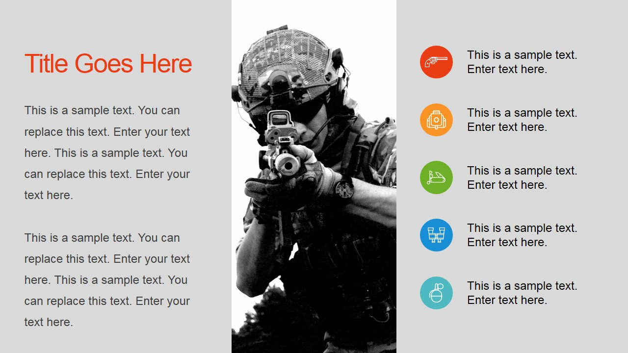 Military powerpoint template slidemodel military aircrafts powerpoint slide soldier with rifle background toneelgroepblik Images