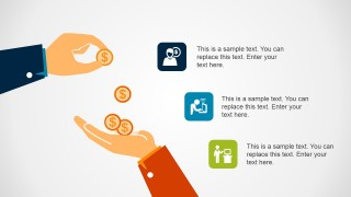 Getting Paid in Coins Illustration for PowerPoint