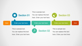 Horizontal Section Timeline Design
