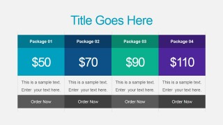 Sales Pricing Table Slide for PowerPoint
