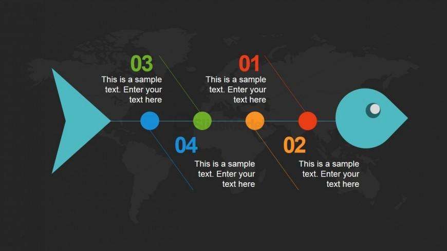 Dark Fishbone PowerPoint Slide Design