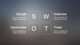 Blur SWOT PowerPoint Slide