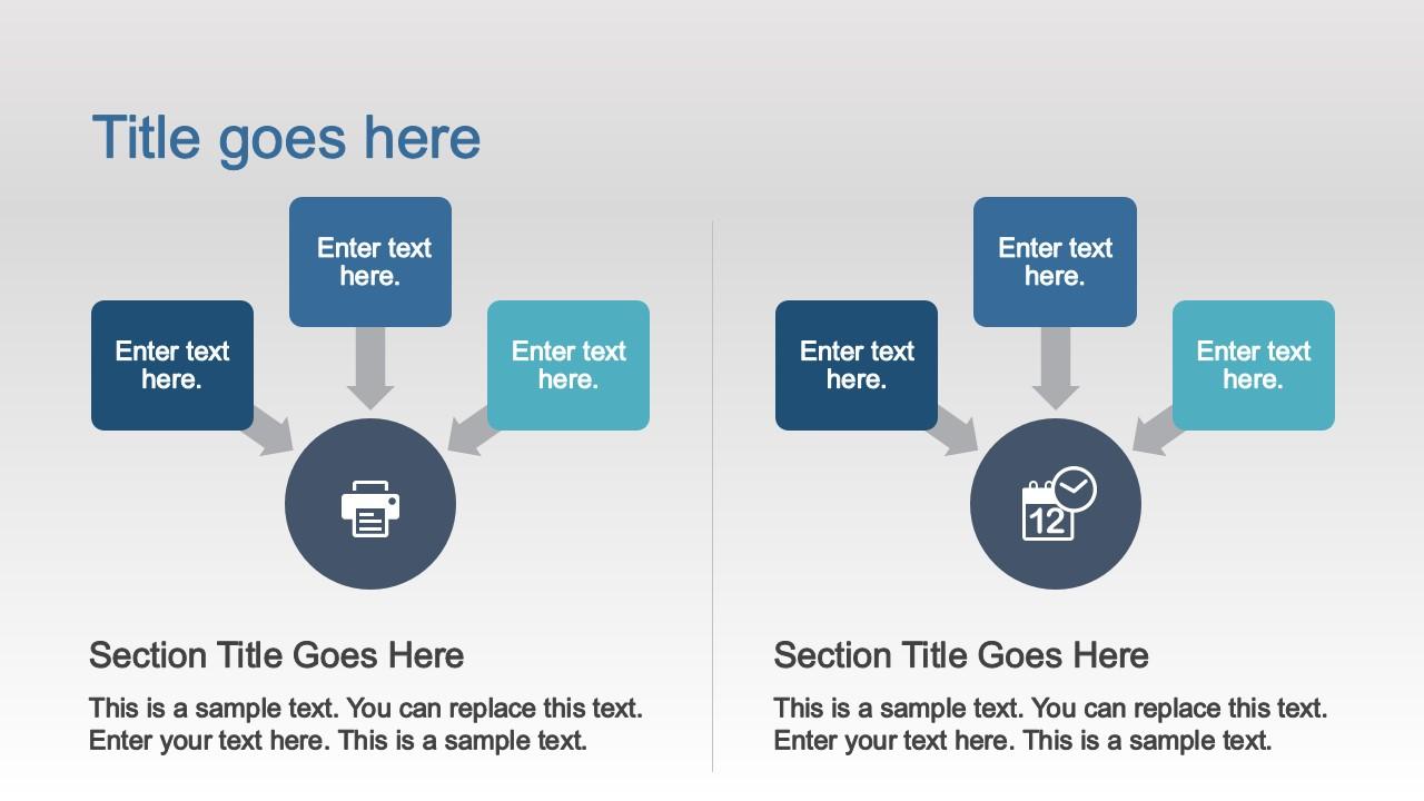 PPT SmartArt Diagram for Comparing Concepts