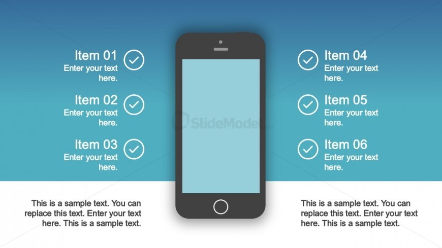 PPT Mobile Phone Shape Clipart