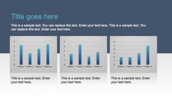 Column Charts Data Driven PowerPoint Template
