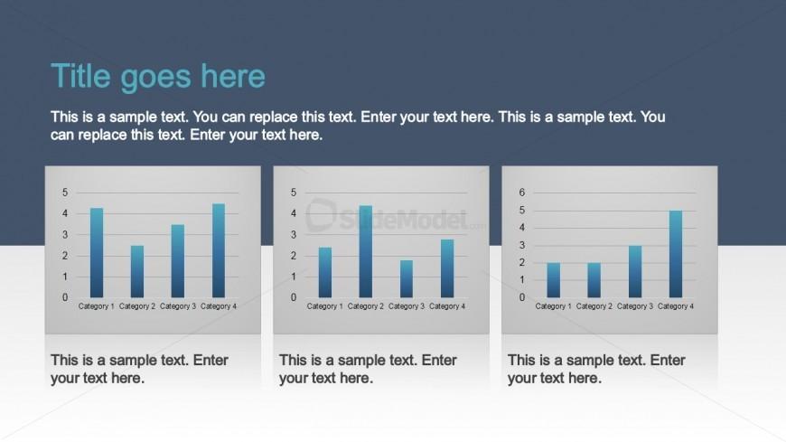 PPT Template Column Chart Data Driven