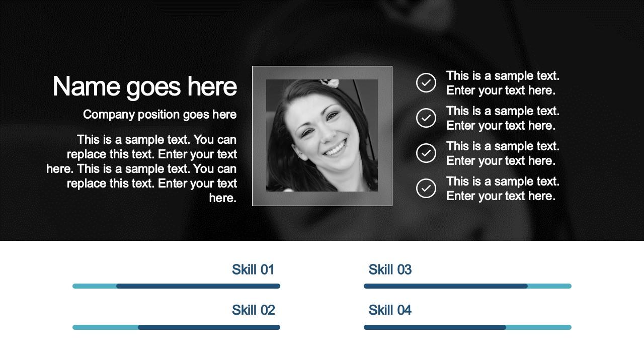 PowerPoint Slide Design Founder Profile