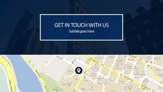Contact Us PowerPoint Presentation Cover With Google Maps