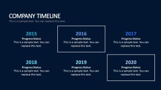 Yearly Timeline For PowerPoint Business Presentations