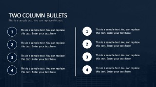 Bullet Section Business PowerPoint Templates