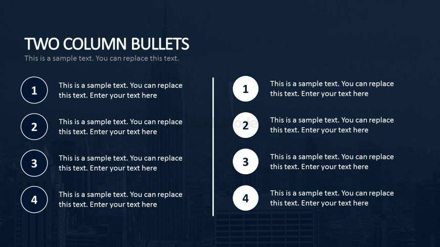Two Column Bullets For Business Plan Powerpoint - Slidemodel