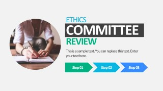 3 Steps Hospital Ethic Code PowerPoint Templates