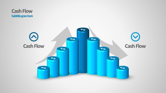 PowerPoint Cylinder Chart Cash Flow Statement