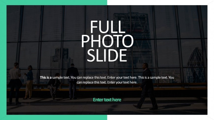 Editable Photo Slide Background For PowerPoint