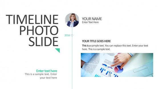 Timeline Photo Slide For PowerPoint
