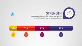 SWOT Percentage Template PowerPoint Vectors