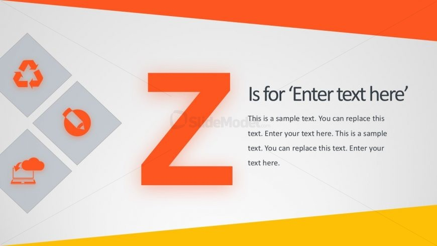 A to Z Alphabets with Pictures PowerPoint - SlideModel