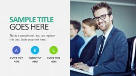3 Stages Picture Slide PowerPoint Template