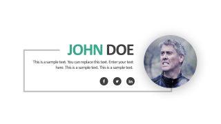 Editable Business Profile Slide Template