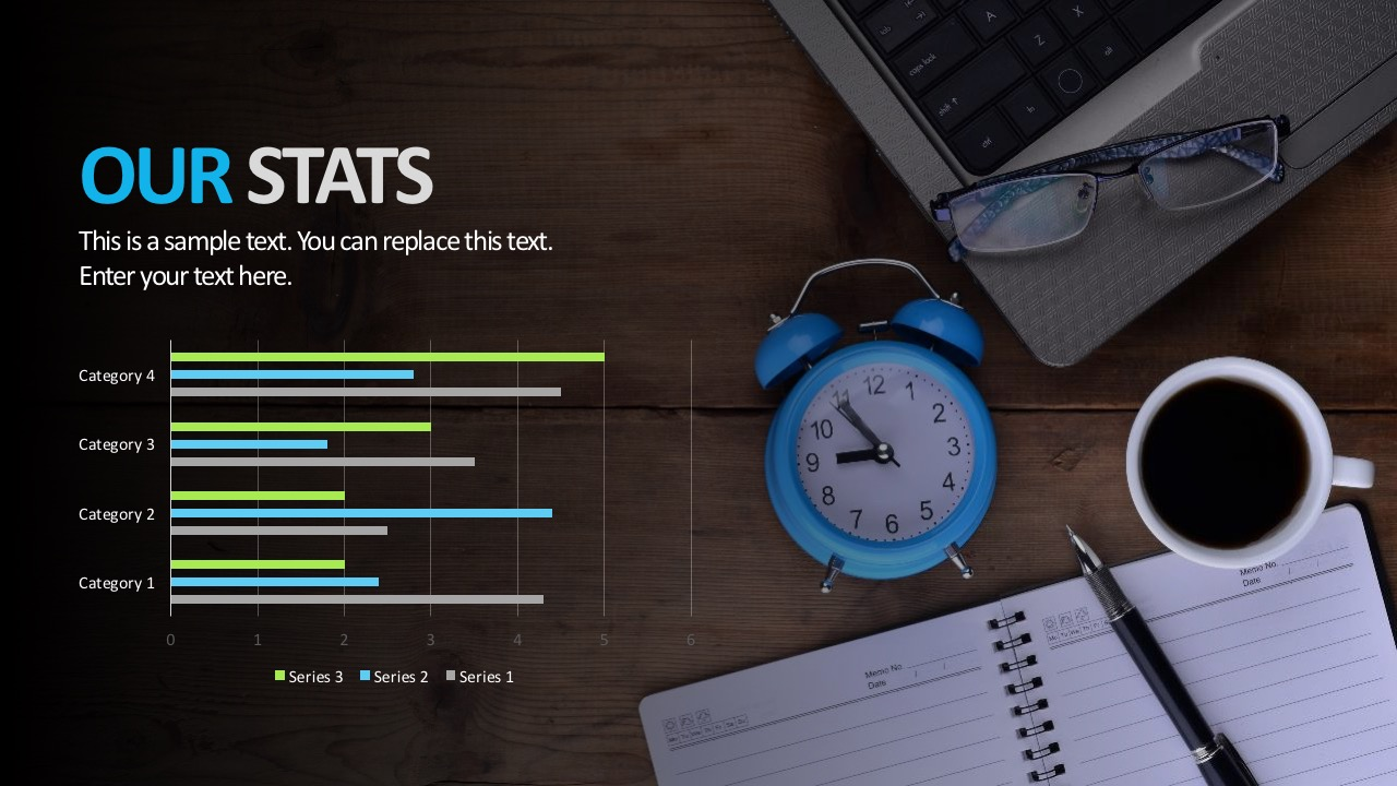 Company Statistics Chart PowerPoitn Template
