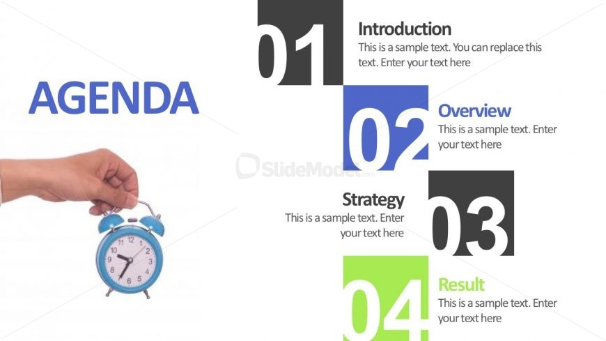 4 step meeting agenda slide powerpoint template slidemodel