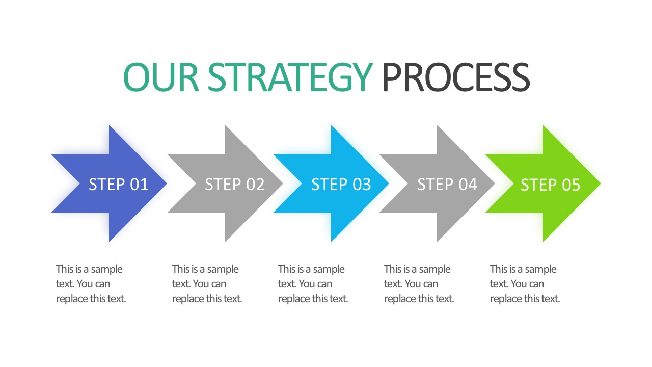 5 Step Arrow Business Strategy Presentation