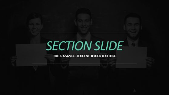 Section Slide PowerPoint Business Presentations