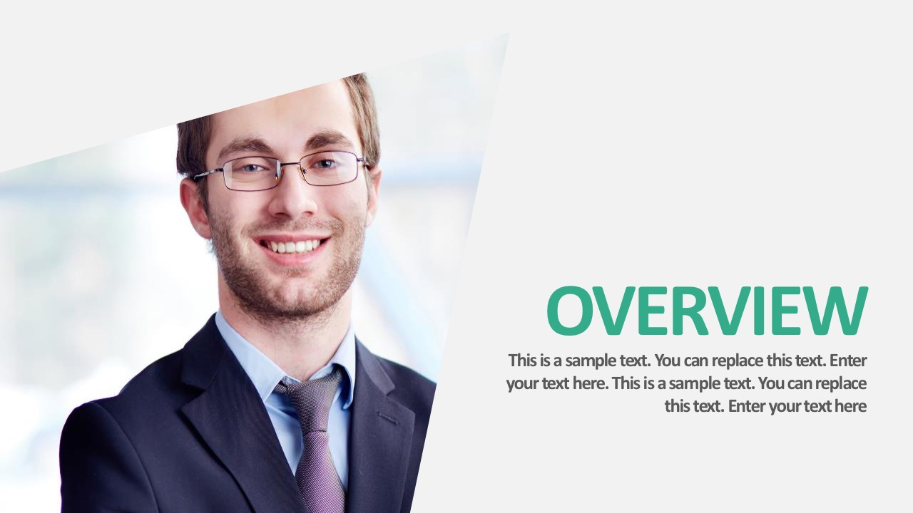 Editable Business PowerPoint Image Slide