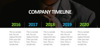 5 Year Table Timeline PowerPoint Template