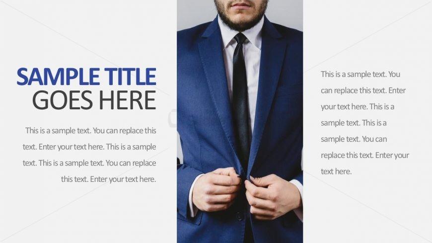 editable image text holder powerpoint template slidemodel