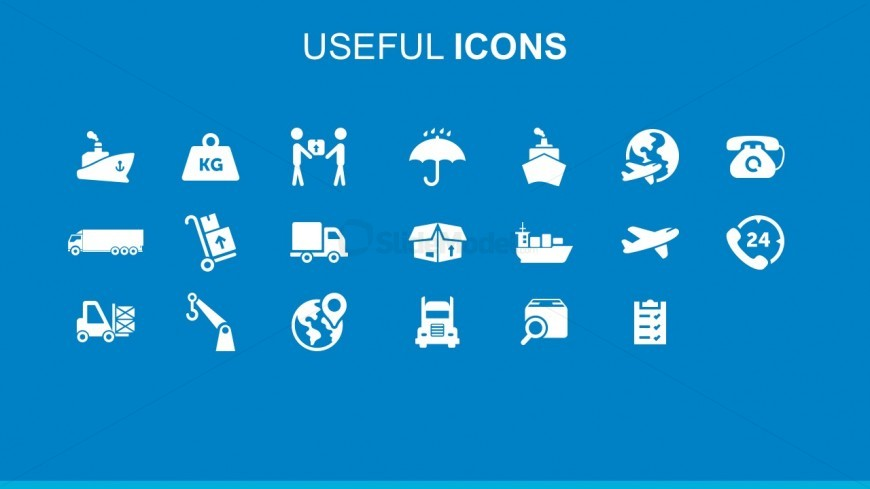 Freight and logistics useful powerpoint icons slidemodel editable cargo and supply chain flat powerpoint icons toneelgroepblik Gallery