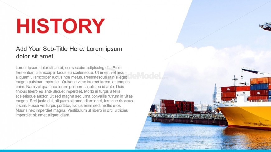 Company History Powerpoint Template - Slidemodel