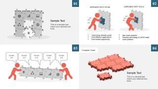Missing Puzzle Metaphor Market Analysis Template