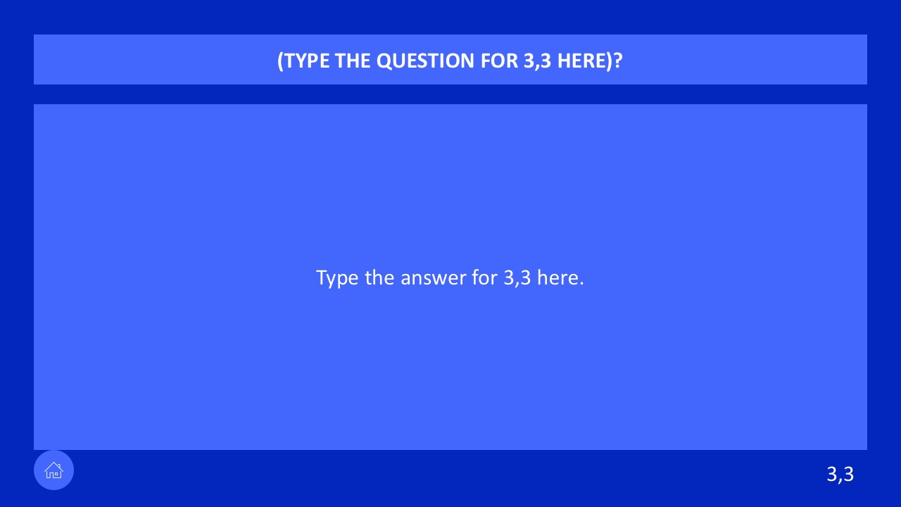 Educational Game Jeopardy Template